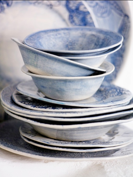 Blue and White Ceramic photo by Eva Lindh