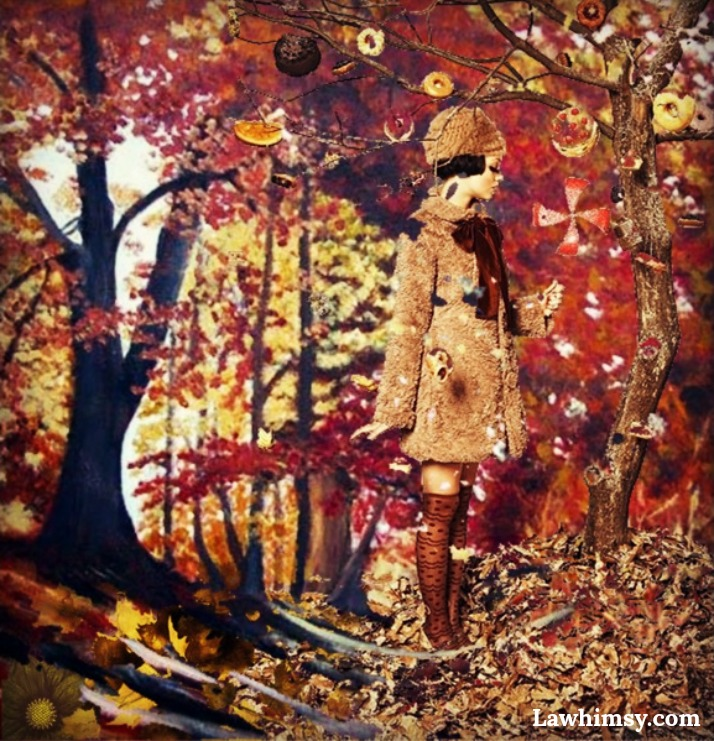 Autumn Ambiance digital art collage by Ella Patrice of LaWhimsy