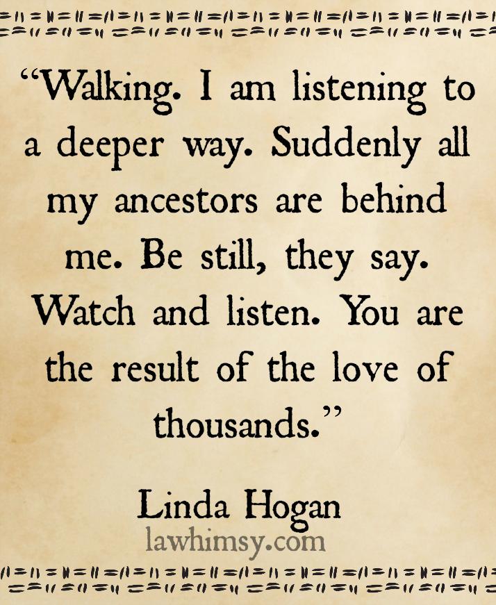 What does this poem, Heritage, by Linda Hogan mean?