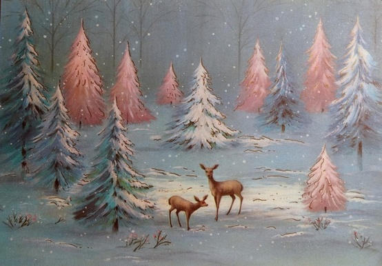 1960's Pastel Deer