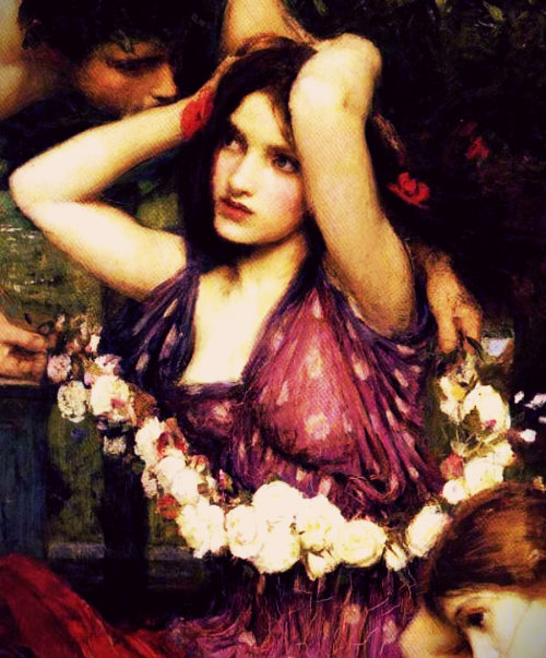 amaranthine pre-raphaelite art john william waterhouse flora Word Nerd via lawhimsy