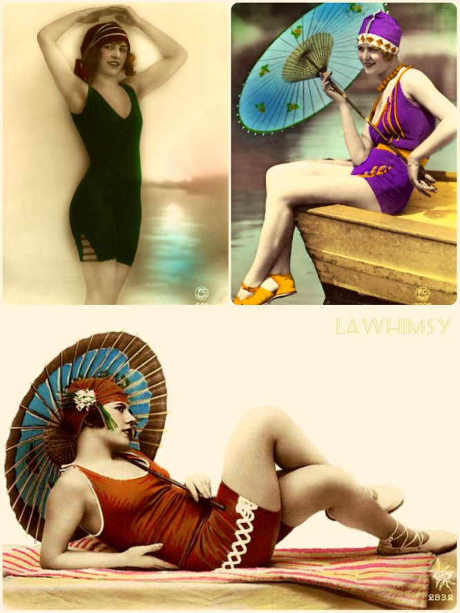 vintage maillot collage Lawhimsy