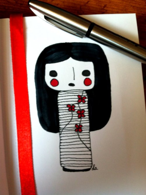 My Kokeshi Doll Sketch