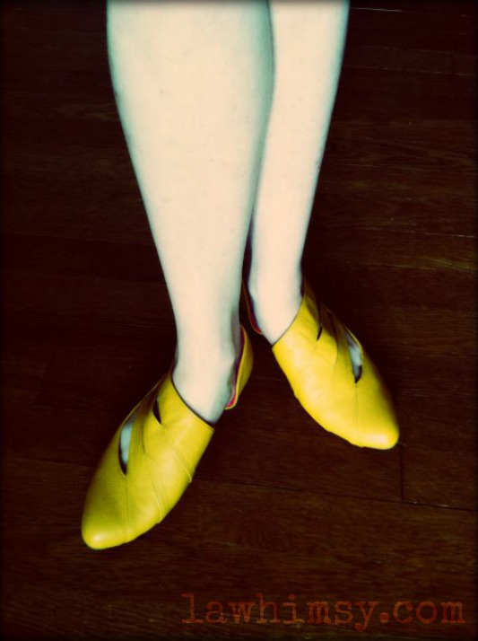 yellow shoes photgraphy by lawhimsy