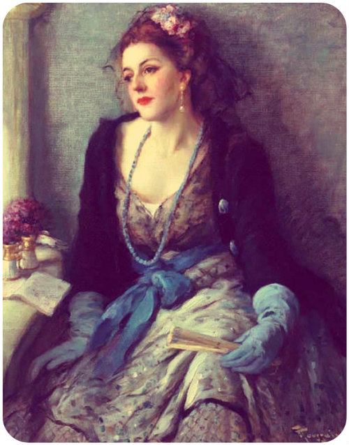 Felicity and Elegance painting by Fernand Toussaint
