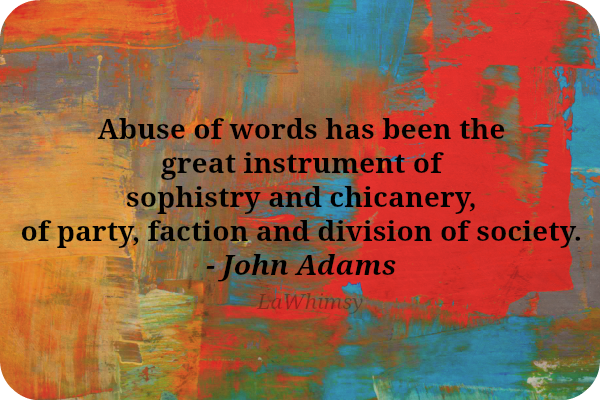 Sophistry Quote via LaWhimsy