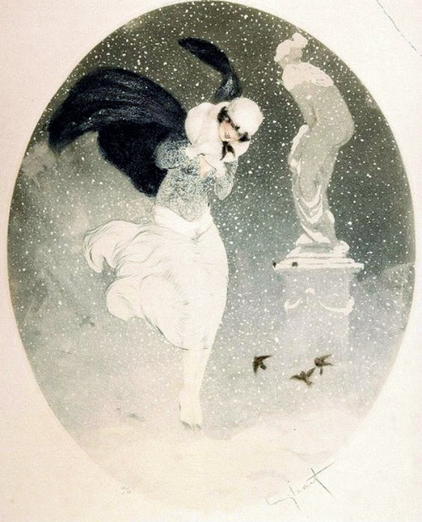Winter by Louis Icart French artist 1880 - 1950