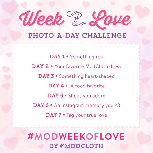 Modweekoflove photo challenge