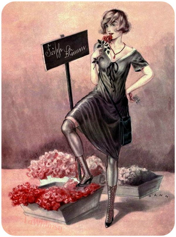 ValentineFlowerGirl via LaWhimsy