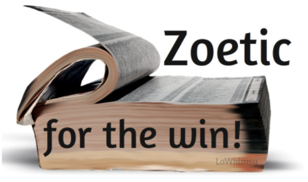 Zoetic for the scrabble win via lawhimsy