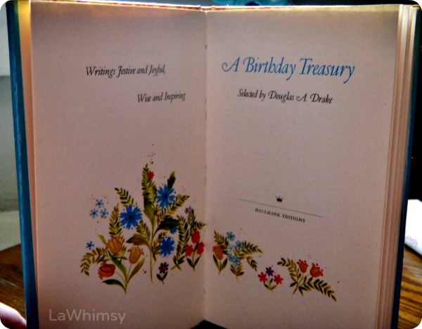 A Birthday Treasury Book Surprise via LaWhimsy