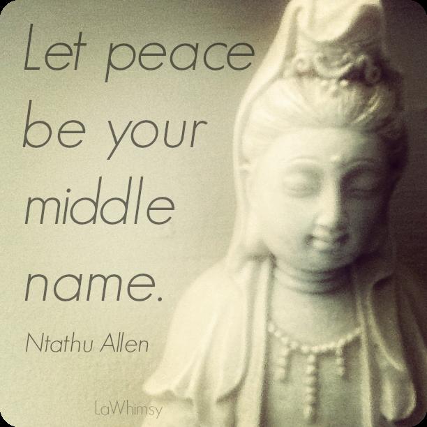 Kwan Yin Peace via LaWhimsy