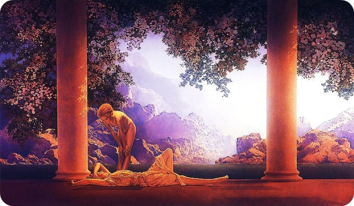 Daybreak by Maxfield Parrish (1922) Madrugada