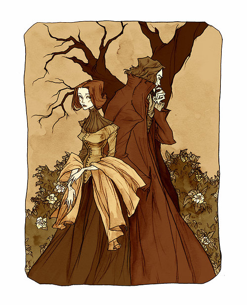 Jane Eyre and Rochester Illustration by abigail larson