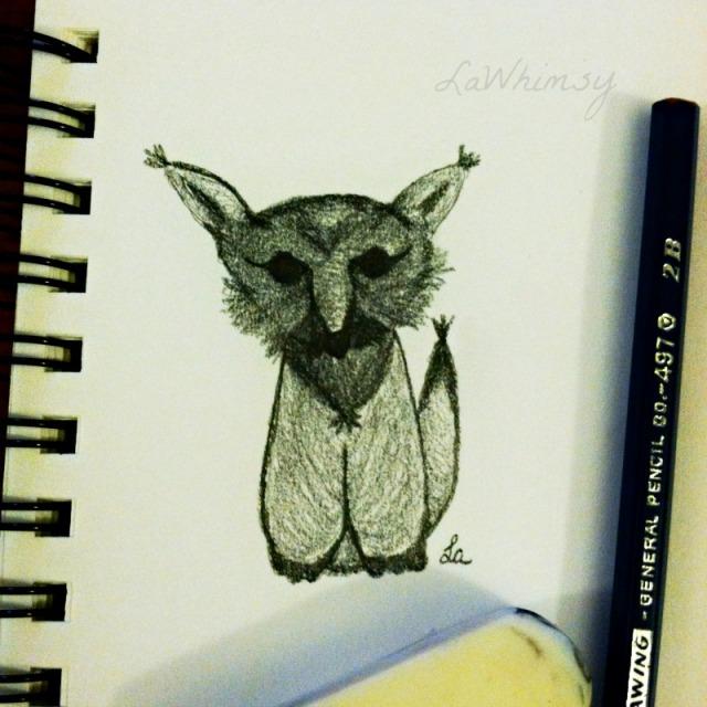 MyLittleFoxySketch by LaWhimsy
