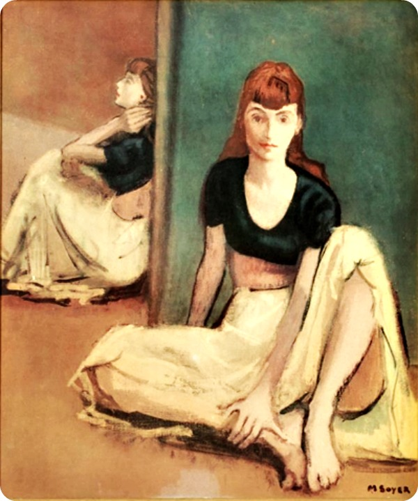 Quiescence Seated Girl by Moses Soyer
