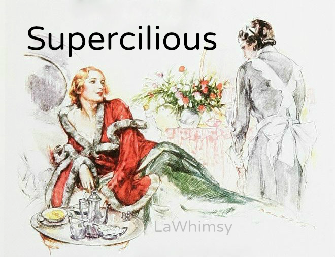 supercilious word nerd via lawhimsy