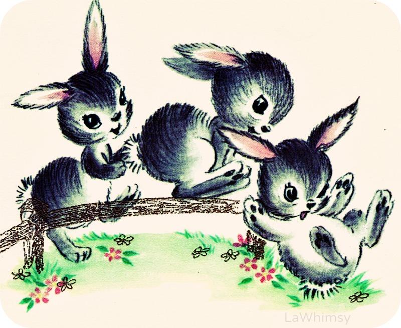 vintage bunny tumbles via lawhimsy