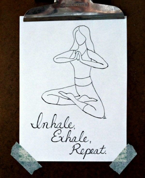 Inhale exhale repeat illustration by lawhimsy