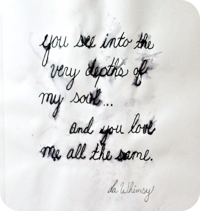 Love Handwritten Quote by LaWhimsy