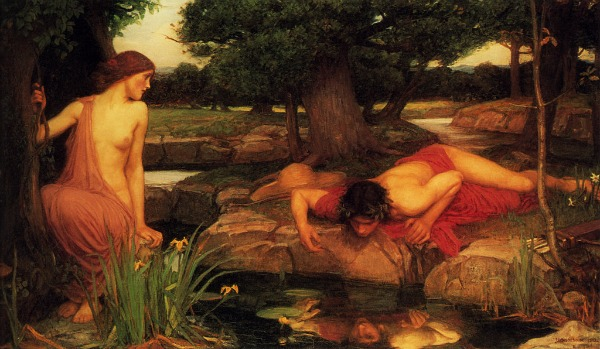 Oread Echo and Narcissus by john william waterhouse
