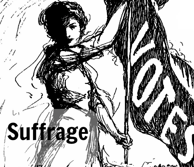 suffrage vintage illustration word nerd via lawhimsy