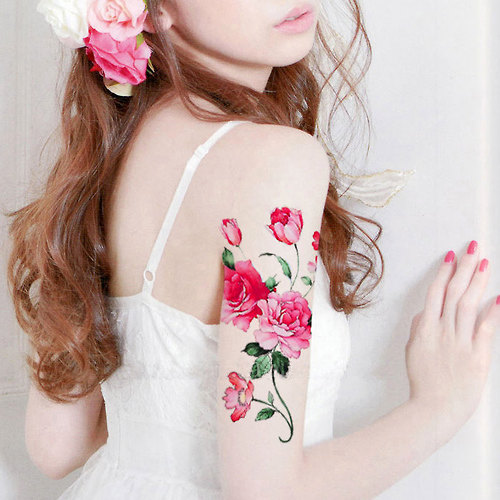 Peony Flower temporary tattoo by MaomaoCreation on Etsy