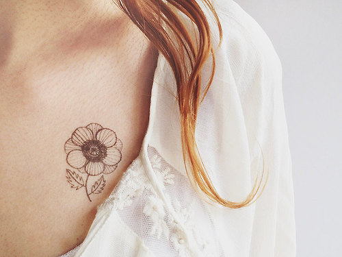 Temporary Anemone Tattoo by oanabefort on Etsy