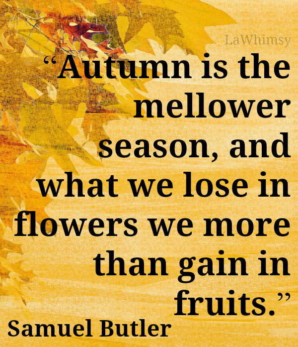 Autumn Samuel Butler quote Monday Mantra via LaWhimsy