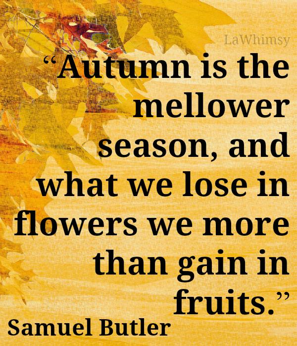 Autumn Samuel Butler quote Monday Mantra via LaWhimsy