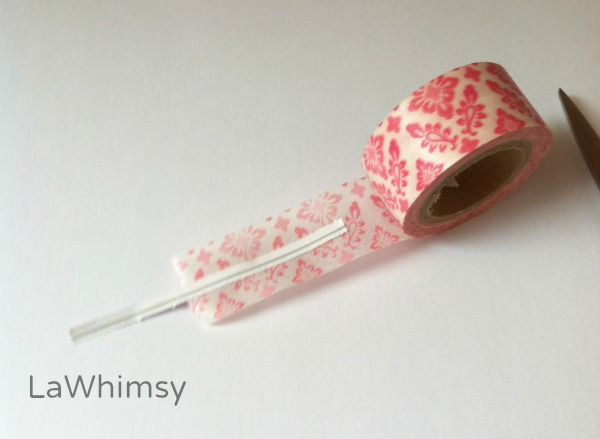 Washi Tape Feather DIY by LaWhimsy step 2