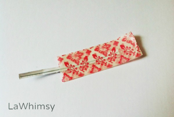 Washi Tape Feather DIY by LaWhimsy step 5