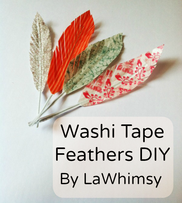 Washi Tape Feather DIY Tutorial by LaWhimsy