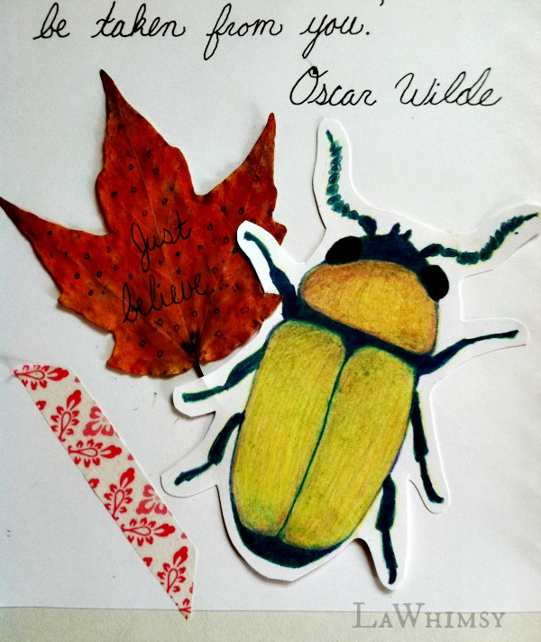 Beetle illustration detail by LaWhimsy