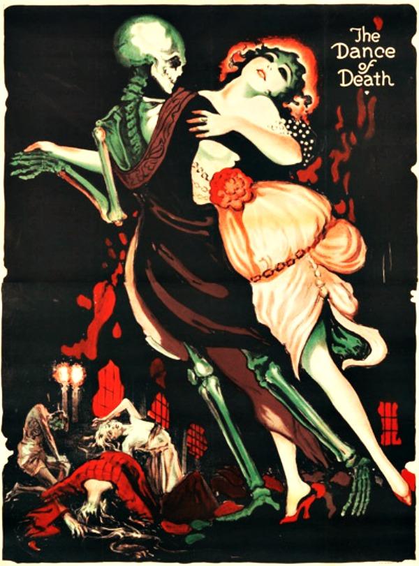 Macabre Totentanz or dance of death by Josef Fenneker 1919