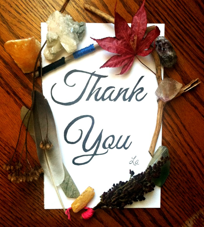 Thank You Handwritten Typography and Nature Wreath by LaWhimsy