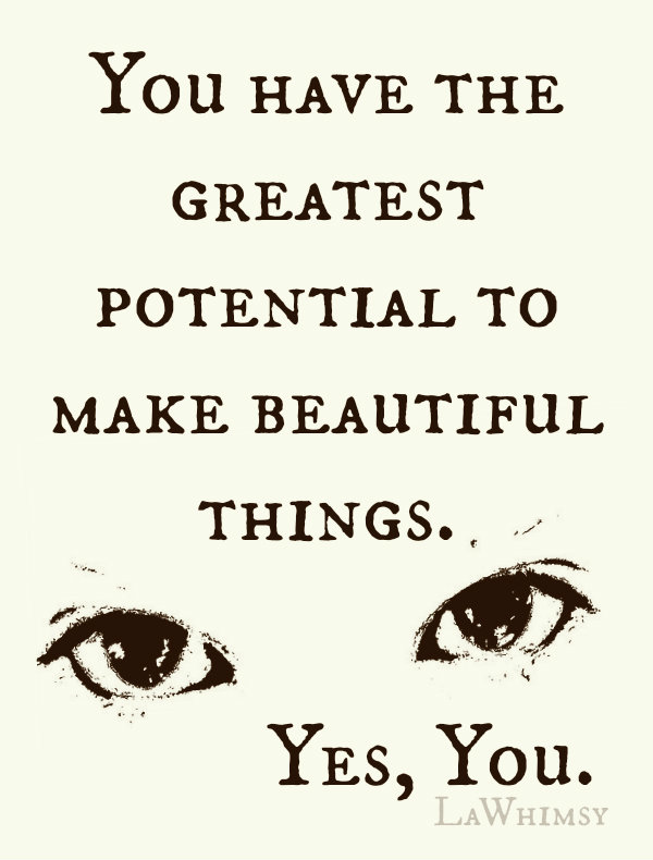 Yes You Monday Mantra via LaWhimsy
