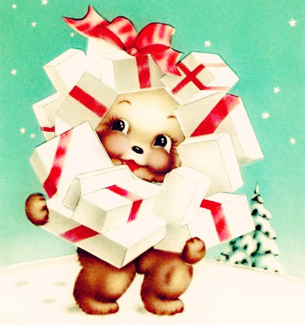 treacly kawaii christmas bear cutie via lawhimsy