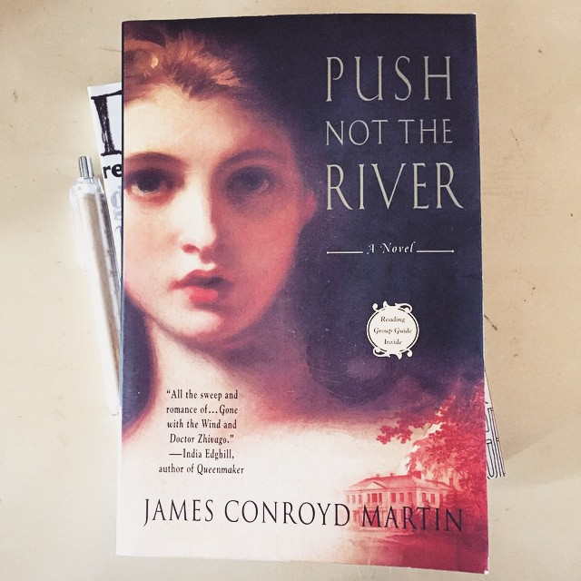 Push not the river Book Cover Image from LaWhimsy Instagram