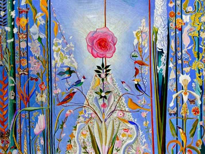 Apotheosis of the Rose by Joseph Stella detail