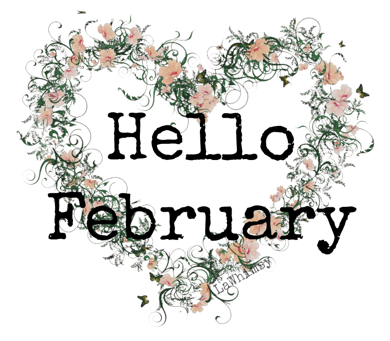 Hello February Month Graphic via LaWhimsy