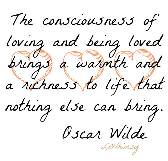 Oscar Wilde Love Monday Mantra via LaWhimsy