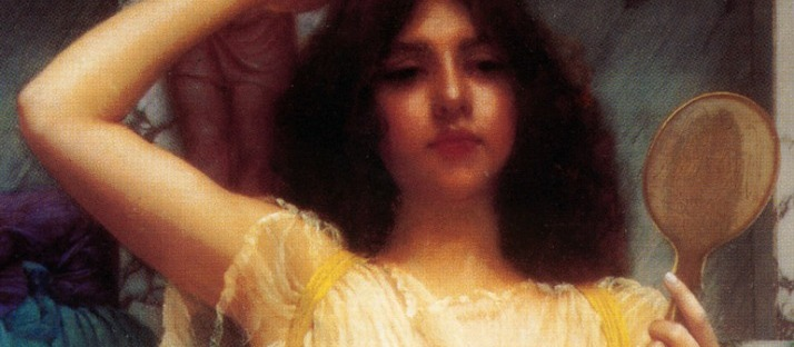 Seraphic detail from Godward The Mirror via LaWhimsy