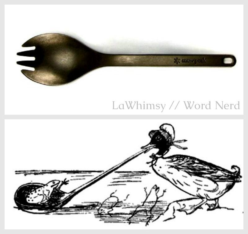 Runcible spoon and Edward Lear runcible illustration collage via LaWhimsy