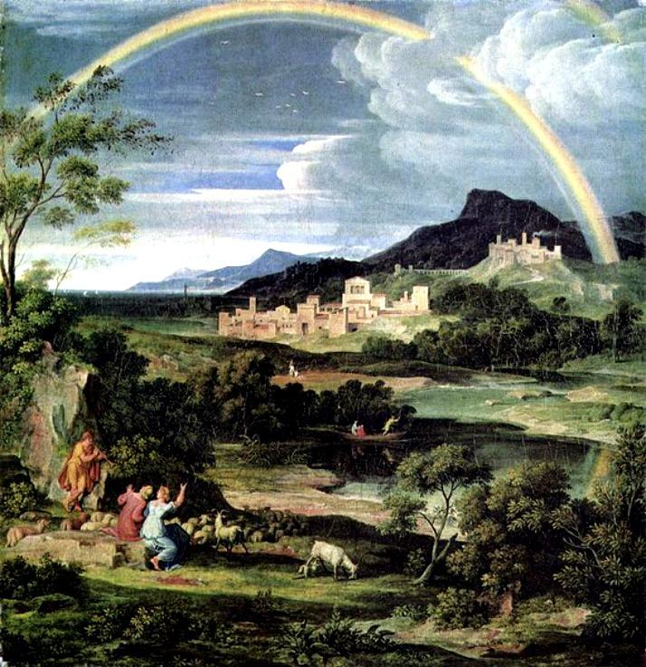 Xanadu Heroische Landschaft mit Regenbogen by Joseph Anton Koch