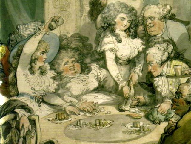 impecunious gambling Georgiana Cavendish Thomas Rowlandson detail via lawhimsy