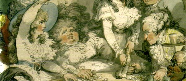 impecunious gambling Georgiana Cavendish Thomas Rowlandson detail via lawhimsy