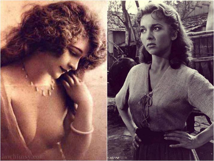 Demure vs Demur vintage photo collage via lawhimsy