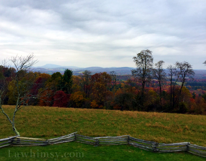 Blue Ridge Parkway Autumn Skyline photography by LaWhimsy
