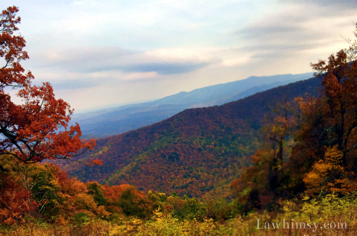 Blue Ridge Parkway Fall Skyline Fever photography by LaWhimsy